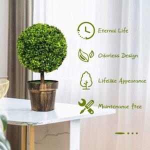 best artificial outdoor topiary