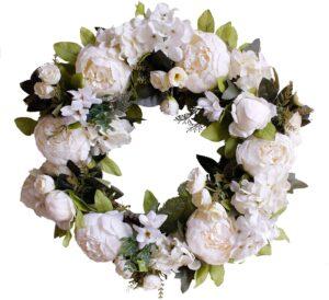 best artificial flower wreath